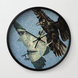 Nameless Here for Evermore Wall Clock