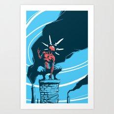 Web Head Art Print