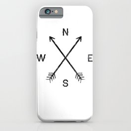 Compass (White) iPhone Case
