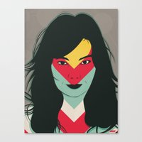 bjork Canvas Prints featuring BJORK by Mamut