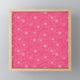 Pink seamless Floral pattern Framed Mini Art Print