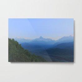 The Sun Rises over the Himalayas Metal Print