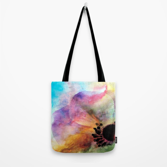 Abstract anemone one colorful  watercolor Tote Bag
