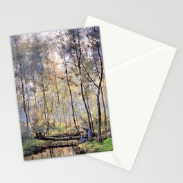 Hendrik Willem Mesdag - Riverbank - Digital Remastered Edition Stationery Cards