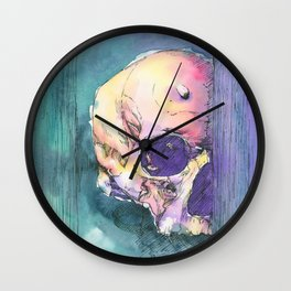 Colorful Skull 6 Wall Clock