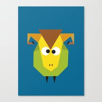 ram Canvas Prints featuring Ram by Fairytale ink