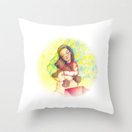 Xmas hug Throw Pillow