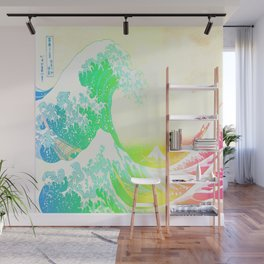 The Great Wave Rainbow Wall Mural