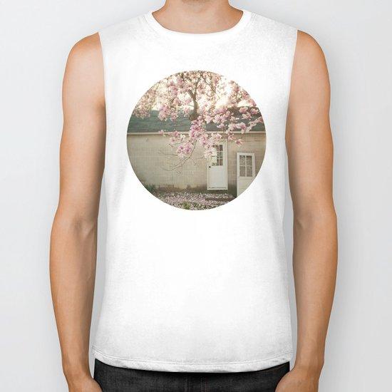 Magnolia Tree  Biker Tank