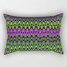 Making Waves Neon Lights Rectangular Pillow
