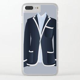 Best Dressed - Blazer Clear iPhone Case