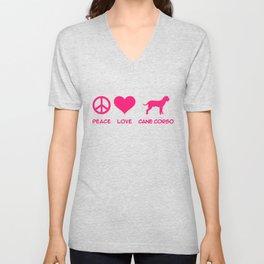 Peace, Love, Cane Corso Unisex V-Neck