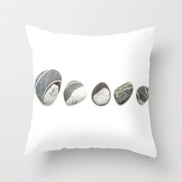 Clovelly Pebbles Throw Pillow