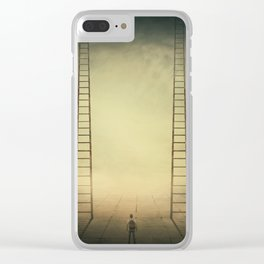 Different life opportunities Clear iPhone Case