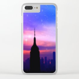 under the moon New York Clear iPhone Case
