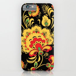 Khokhloma pattern iPhone Case
