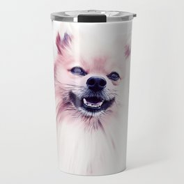 The Smiling Pomeranian Travel Mug