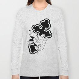 Rose and Cross Long Sleeve T-shirt