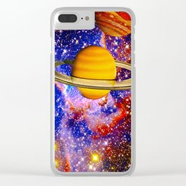 Stars and Planets Clear iPhone Case