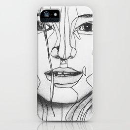 geometric wrinkles iPhone Case