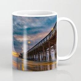 Dusk at Newport Pier Coffee Mug