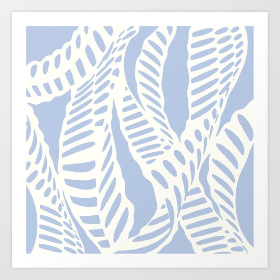 Azul Pastel Al Peas Art Print