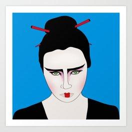 Grumpy Geisha // Japanese Style Art Print