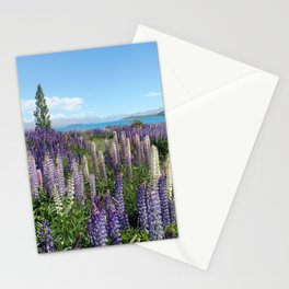 Colorful lupine towers Stationery Cards