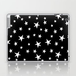 Stars - White on Black Laptop & iPad Skin