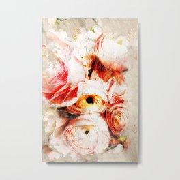 Subtle Blush - Abstract Roses Metal Print