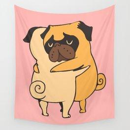 Pug Hugs Wall Tapestry