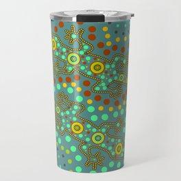 Lizards- aboriginal art Travel Mug