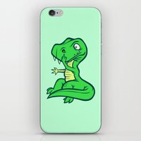 trex iPhone & iPod Skins featuring T-Rex Booger by Artistic Dyslexia