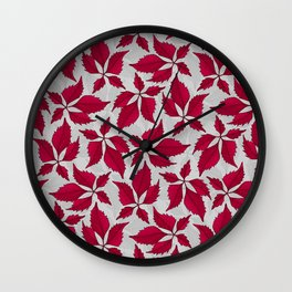 Autumn Leaves (Dove Grey) Wall Clock