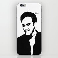 tarantino iPhone & iPod Skins featuring Quentin Tarantino  by Carolyn Campbell
