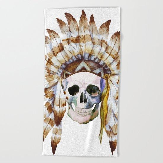 Skull 01 Beach Towel