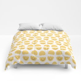 Cute vector cracked eggs illustration Comforters