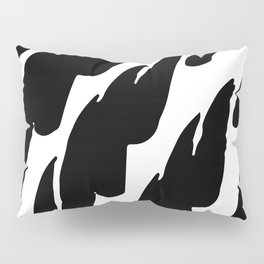 Black Abstract Brush Marks Pillow Sham