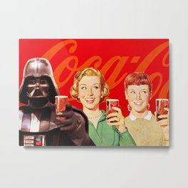 Darth Vader in Coca Cola Advertising Metal Print