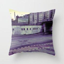 Cracked Concrete Throw Pillow