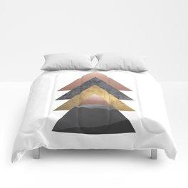 Valley, Scandinavian Modern Abstract Comforters