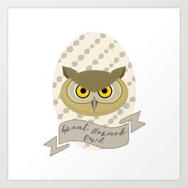 Señora Owl Art Print