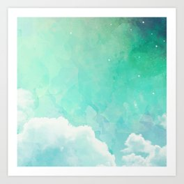 Cloud sky pattern Art Print
