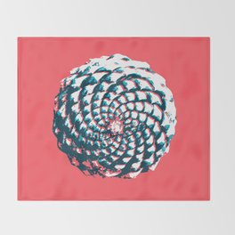 pine cone pattern in coral, aqua and indigo Throw Blanket