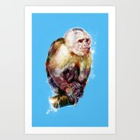 monkey Art Prints featuring Monkey by beart24