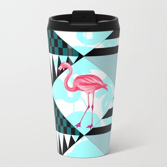 flamingo all days Metal Travel Mug