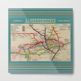 London Undergroud Map 1910 Metal Print