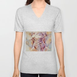 African Elephant _ The Governor Unisex V-Neck