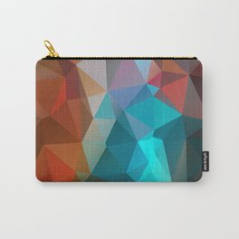 Abstract bright background of triangles polygon print illustration Carry-All Pouch
