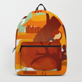Summer Reading Girl Under Tree Backpack